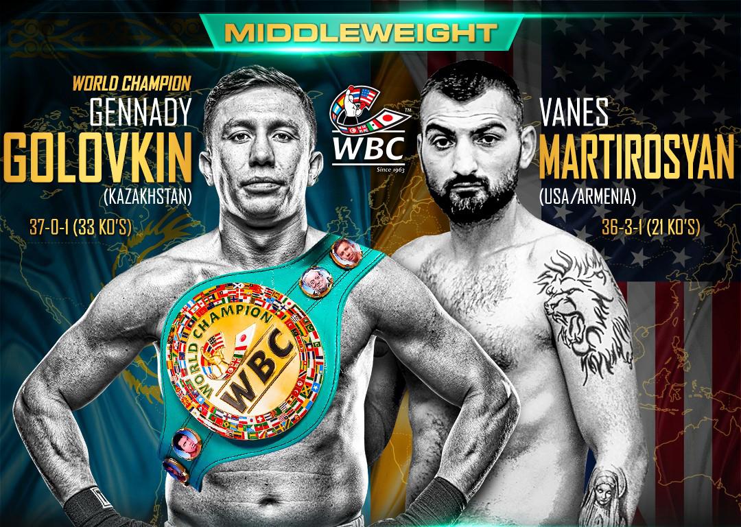 WBC golovkin vs martirosyan