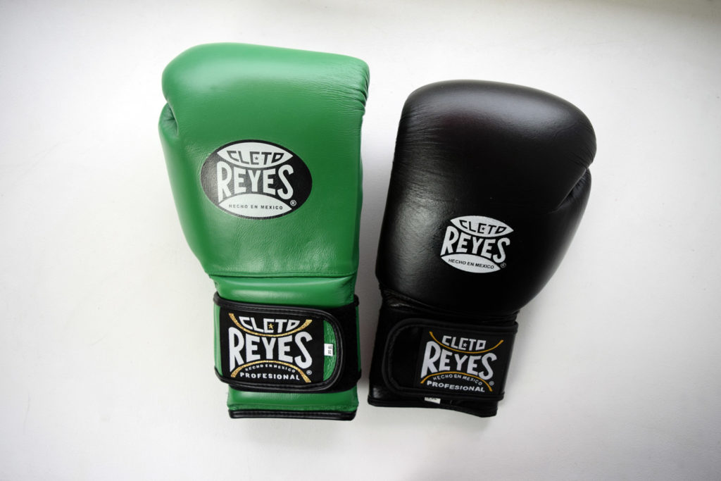 Original Green Cleto Reyes Gloves and Fake Black Reyes Boxing Gloves