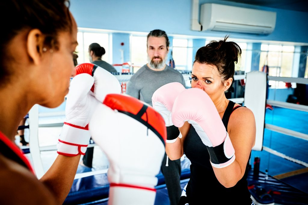 Boxing Workouts Women, Sparring