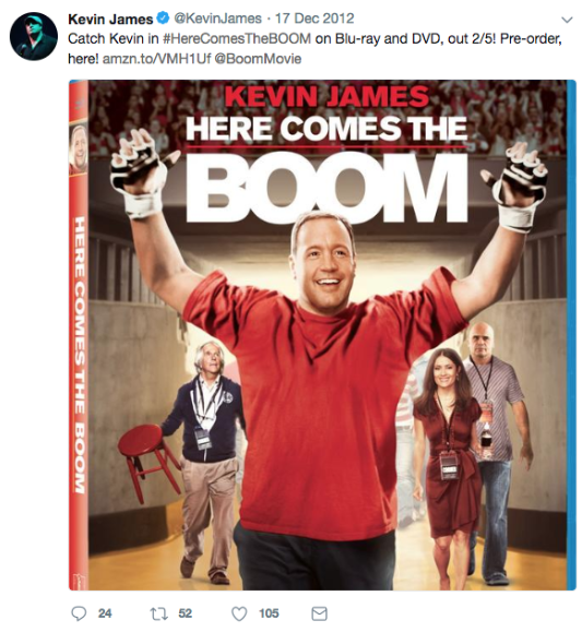 Celebrities Into Boxing, Kevin James