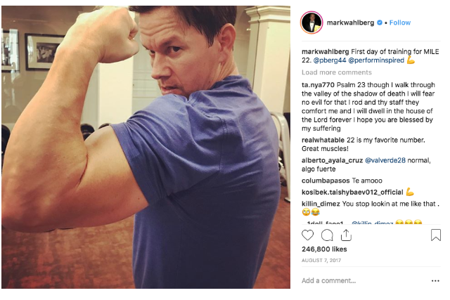 Celebrities Into Boxing, Mark Wahlberg
