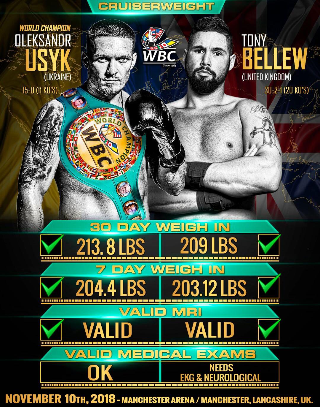 Usyk Bellew Fight