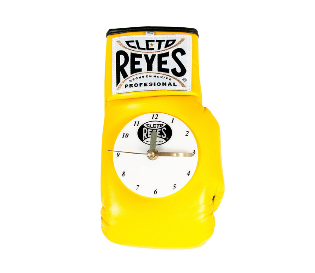 Product shot of Cleto Reyes Wall clock - yellow