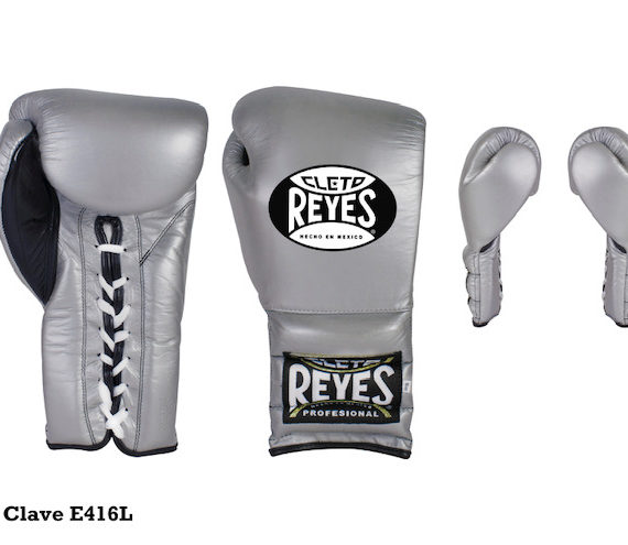 Cleto Reyes Traditional lace sparring gloves - silver