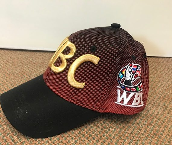 Black and Red World Boxing Council Cap