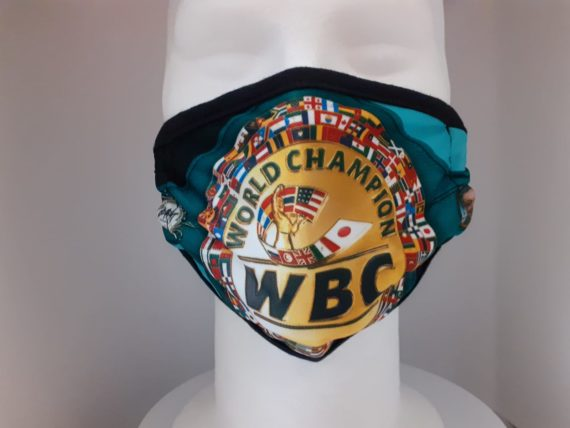 WBC Green Championship belt face mask
