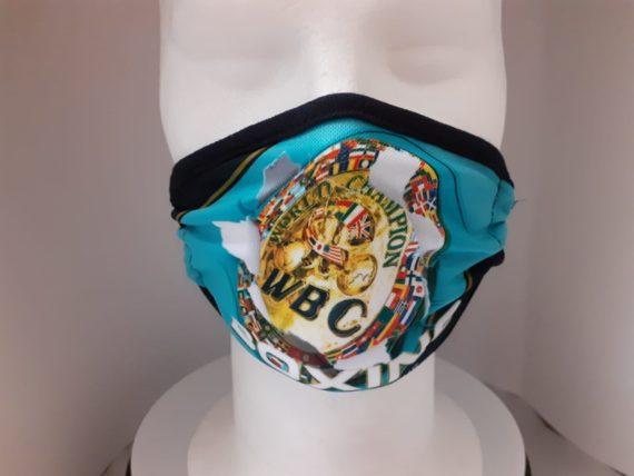WBC Kids Green Champ belt face mask