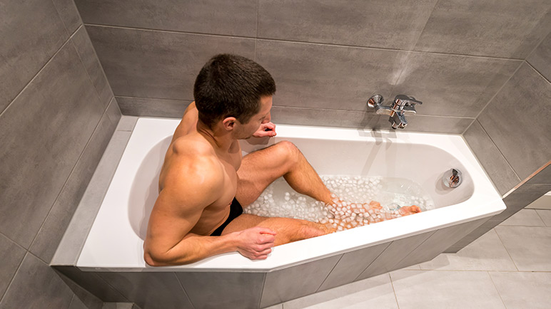 boxing training recovery ice bath