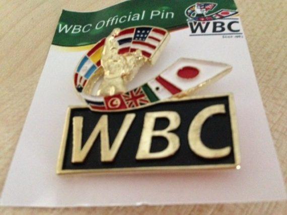 WBC 'new logo' Gold coloured pin