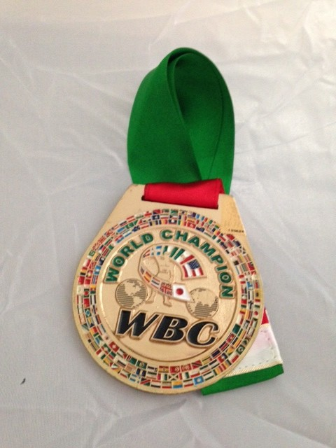Limited edition rare gold WBC plated medal