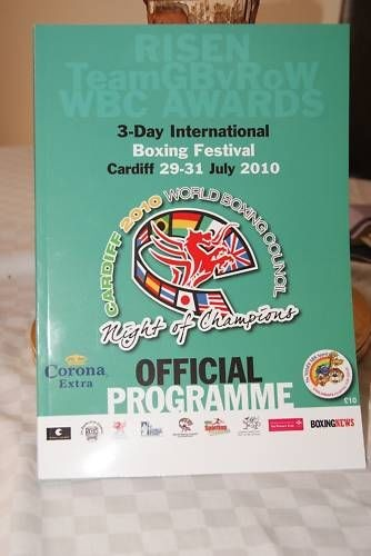 WBC Official Night of Champions 2010 programme