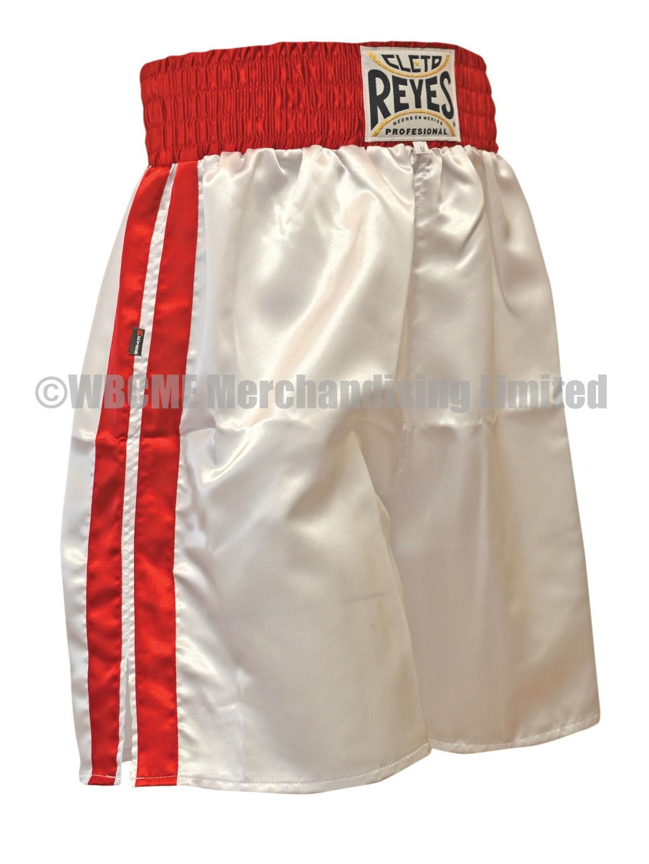 White Cleto Reyes Satin Classic Boxing Trunks