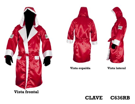 Cleto Reyes Satin Robe with hood